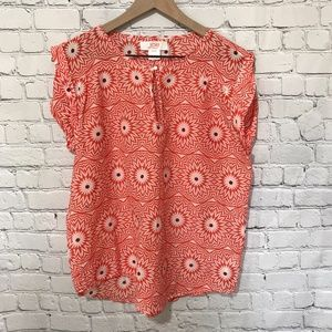 Joe Fresh Sleeveless Top Orange Flowers